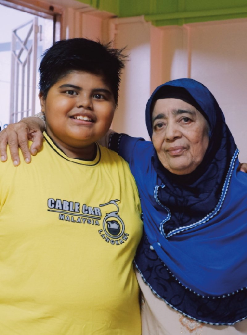 Mdm Hajijah and Grandson